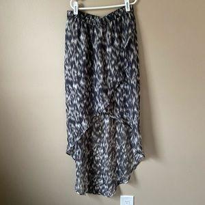 Express high low animal print skirt